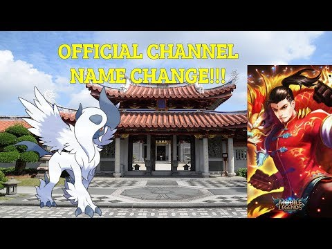 Official Channel Name Change!!!!
