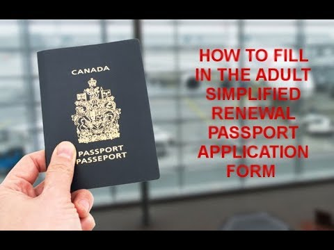 How to Fill In The Simplified Renewal Passport Application Form