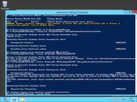 Exchange Server 2013 Preview - Preparing Active Directory