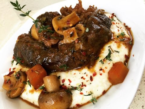 Beef Shank Stew and Grits