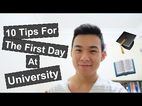 10 tips for the first day at university