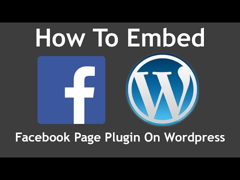 How To Embed a Facebook Page Plugin on Wordpress (2016)