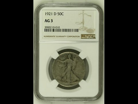 How to Open an NGC Coin Holder (Key Date 1921D Walking Liberty Half Dollar)