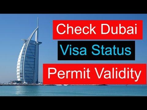 How to check Dubai visa status ? Permit validity check