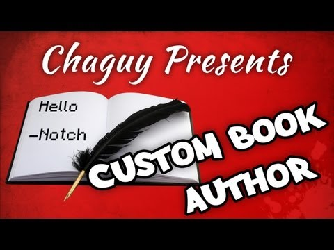Tutorial - Edit the author of a minecraft book (+ more!)
