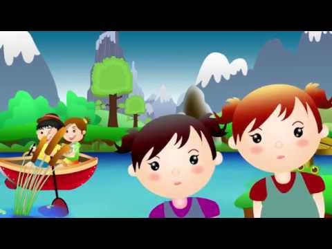 ROW ROW ROW YOUR BOAT | Nursery Rhyme Express | Animation | Sing Along | Childrens Song