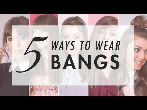 5 Ways To Style Bangs | ft. Margo&Me | Luxy Hair