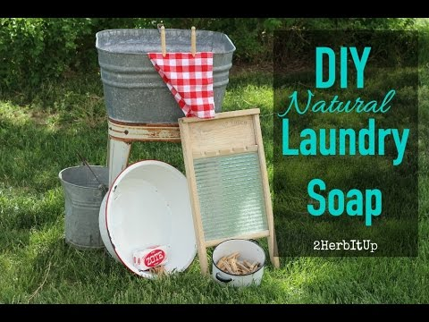 Making Homemade Natural Laundry Detergent