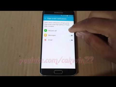 Samsung Galaxy S6 : How to enable or disable Missed call Light Notification in edge scree