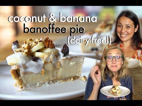 Coconut & Banana Banoffee Pie Recipe // Dairy-Free, Refined Sugar-Free Dessert