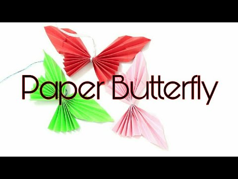 DIY | How to make an Easy Origami Butterfly | Paper Craft | Bharti's Creative Art And Craft