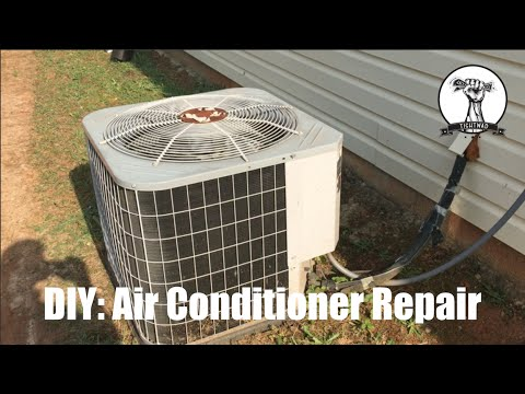EASY $15 FIX: Air Conditioner Fan Not Spinning - Blowing Warm Air