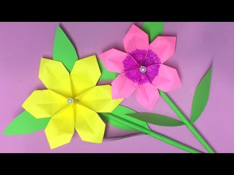 How to Make Origami Flower with Paper | Making Paper Flowers Step by Step | DIY-Paper Crafts