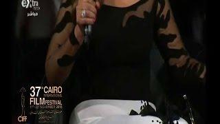 "#x202b;#مهرجان_القاهرة_السينمائي   شاهد...فستان ""ليلى علوي"" بعد ""النيولوك"" في مهرجان القاهرة السينمائي#x202c;lrm;"