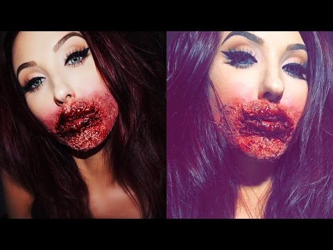 Glam Zombie | Rotting Face Makeup Tutorial