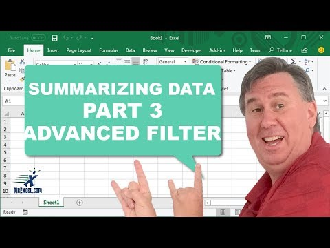 Learn Excel - Advanced Filter - Podcast 2189