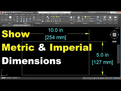 How to Show Metric and Imperial Dimensions in AutoCAD 2018