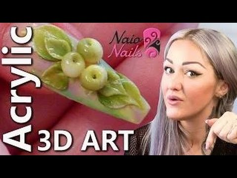 3D Acrylic Nail Art Apples - 3D Fruit Acrylic Nails - Series of Detailed Video Tutorials