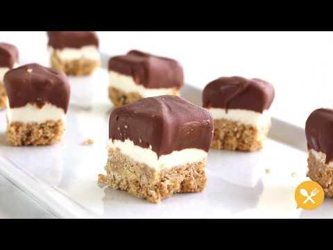 Mini Chocolate Covered No-Bake Cheesecake Bites