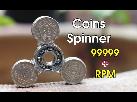 How to make a Fidget Spinner with Coins