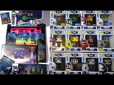 Opening READY PLAYER ONE Toys, Keys, Art Book, Pins, Coasters, Action Figures