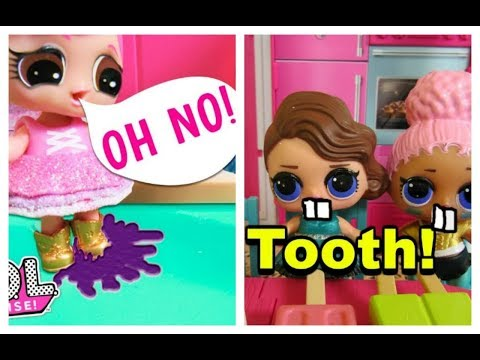 LOL SURPRISE DOLL Gets Gum Stuck On Her Boots and Teeth Fall Out! LOL Doll Compilation