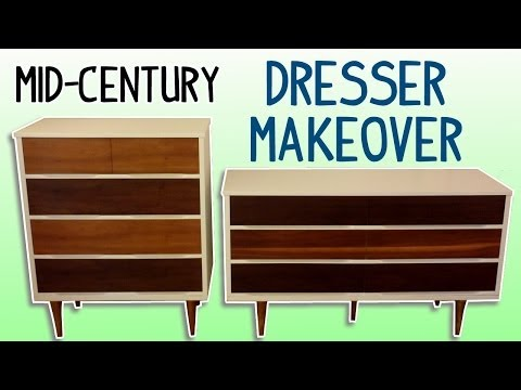 MidCentury Dresser Makeover (with Homemade Wood Stain)