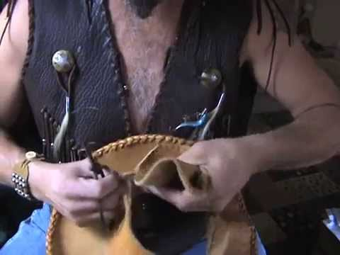 how to make classic cowboy hat from scrap leather, tutorial