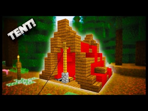 Minecraft - How To Make A Tent