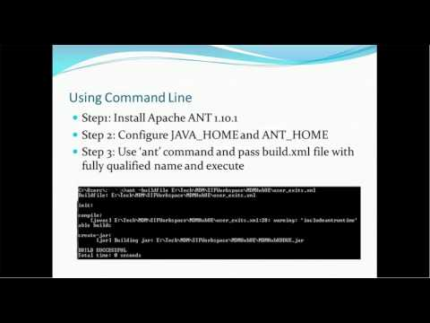 Ant Build Tool to create jar, war and ear files