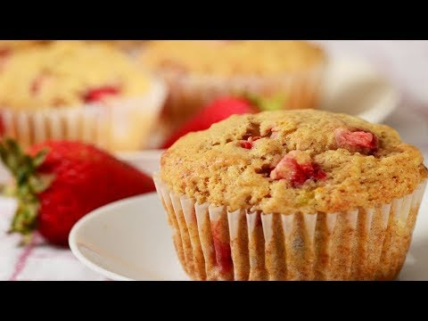 Strawberry Banana Muffins Recipe Demonstration - Joyofbaking.com