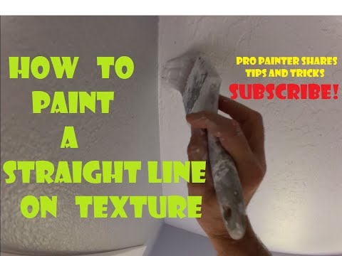 How to paint a perfect cut in on a textured ceiling - Pro Painter Tips, and Tricks