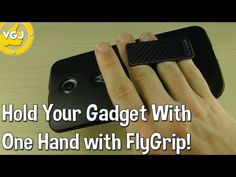 Hold Any Smartphone Or Tablet in One Hand With FlyGrip!