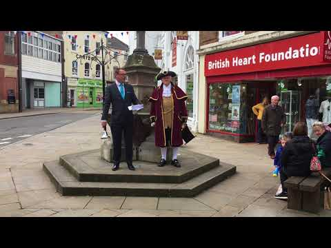 Oswestry town crier interviews: Applicant, Mark Andrews, auditions for role