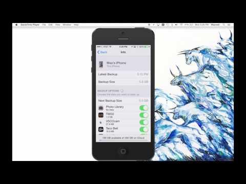 iCloud back Up Tech Tip
