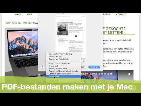 PDF-bestanden maken op je Mac