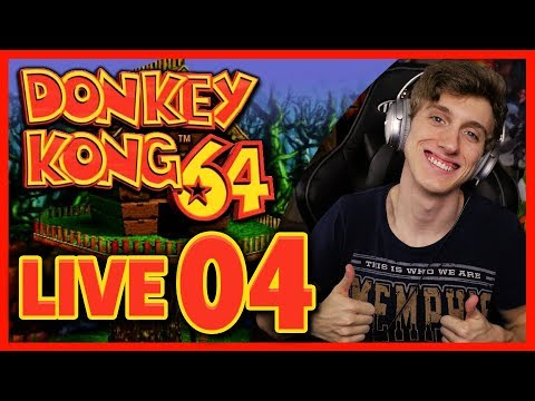Donkey Kong 64 100% LIVE Let's Play Part 4: Fungi Forest