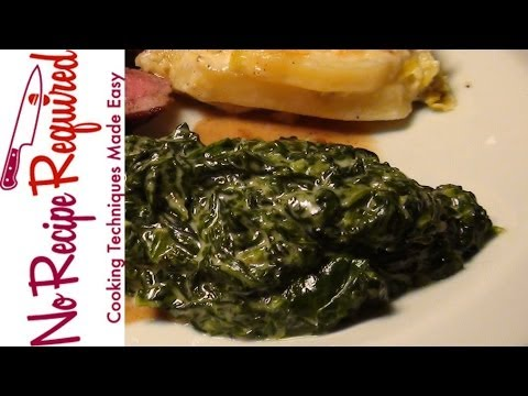 Creamed Spinach The Perfect Steak Side Dish - NoRecipeRequired.com