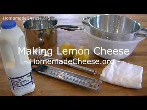 Making Lemon Cheese