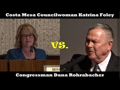 CONGRESSMAN DANA ROHRABACHER INTERROGATED BY KATRINA FOLEY AFTER SPEAKING AGAINST SANCTUARY STATE