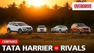 Tata Harrier vs Hyundai Creta vs Mahindra XUV500 vs Jeep Compass | Comparo | OVERDRIVE
