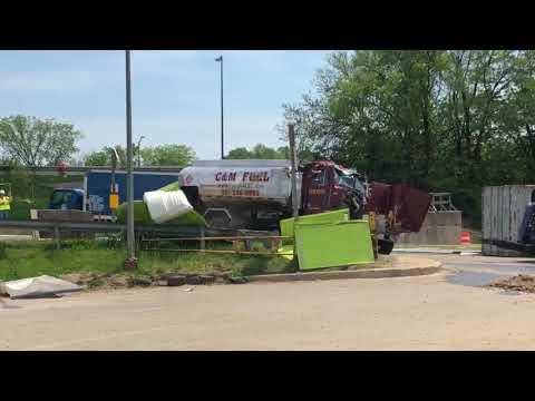 Tanker truck overturns in DC
