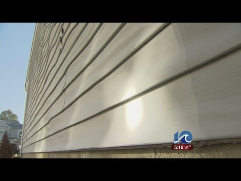 Vinyl siding melts off from reflection of sun at Virginia Beach home