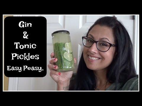 Gin & Tonic Pickles   Easy Peasy Recipe