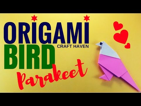 How To Make An Origami Parakeet - Easy Origami Bird for Kids - Origami Animal for Beginners