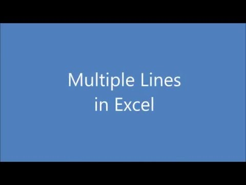 Multiple lines in one Excel Plot