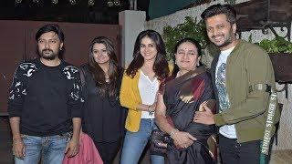 Ritesh Deshmukh Beautiful Family At Marjaavaan Screening