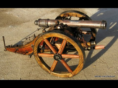 how made  medieval war cannon -the most beautiful cannons 44mm