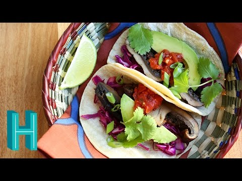 How to Make Portobello Mushroom Tacos |  Hilah Cooking
