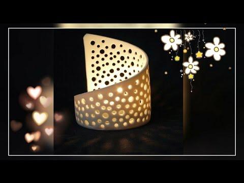 DIY- Homemade Candle/Tealight Holder | Enjoy Crafting # 41